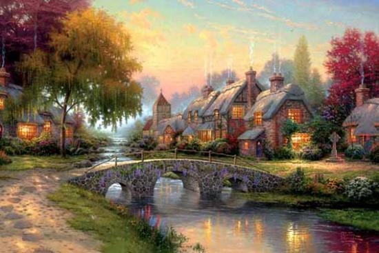 Extrêmement peintures de paysages DM69